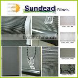 new design sunscreen blackout shiny vinyl roller blind fabric meet child safety regulation with hook