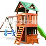 Backyard Discovery Kids Playset Wood Playhouse