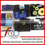 Compatible brother p-touch printer TZe-521,TZe-531,TZe-541 black on blue laminated label ribbon