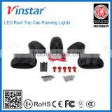 Factory directly sell 5pcs Amber LED Cab Roof Top Marker Running Lights For Truck SUV 4x4 (Black Smoked Lens Lamps)