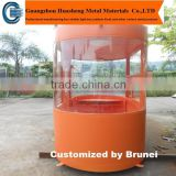 Hot Sale Prefab Outdoor Metal Retail Kiosk Booth / Modern Design Newspaper and Magazine Kiosk