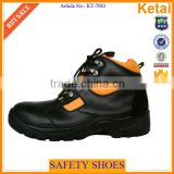 Men Cow Leather Working Shoes with Steel Toe and PU Sole                                                                                         Most Popular