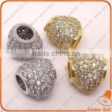 BJ4523 Micro Pave diamond spacer beads, brass beads in micro pave jewelry,Cubic Zirconia Micro pave jewelry