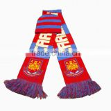 bob trading china supplier football fans Knitting scarf comfortable fringe knitting scarf