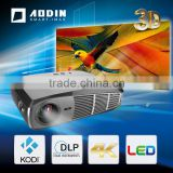 USA Standard ANSI 400LM Lumens DLP Projector with FCC CE Certification