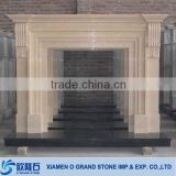 freestanding modern decorative composite artificial stone fireplace                                                                         Quality Choice