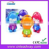 music man usb flash drive wholesale cartoon pvc usb flash drive for kids with key ring 128MB to 64GB