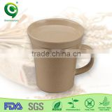 eco firendly rice husk organic customized coffee travel cup with lid kid cup / mug