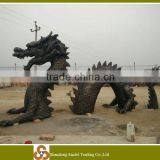 dark color casted bronze dragon statue