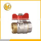 M*F thread Medium Pressure and Standard brass ball valve with butterfly handle1/2-2""