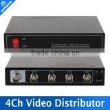 HDCVI/TVI/AHD Camera BNC Output,Max Up To 300-600M 1 Input 4 Output Audio Video Splitter
