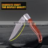 Factory direct selling outdoor knife camping knife stainless steel blade orange color wood folding knife