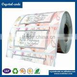 High quality paper factory direct sell cosmetic jars label
