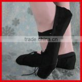 Top sell canvas ballet pointe shoes black wholesale