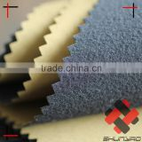 polyester pongee laminated tricot brushed with TPU film 3 layer fabric for soft bag