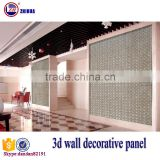 Eco-friendly 3d effect wood decorative wall panel for interior wall and ceiling decoration fireproof 3 panel canvas wall art