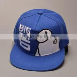 Wholesale adult popular hiphop flat blank snapback hats high quality cotton sport 5 panel baseball caps