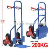 200kg Stair Climber Sack Truck Transport Heavy Duty Climbing Flat Bed Trolley
