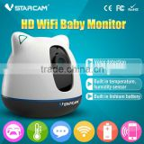 VStarcam H.264 720P wifi hard wired baby monitor with 64GB micro SD card