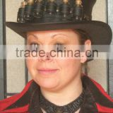 Steampunk Hat Fashion Victorian Fantasy Leather Top Hat