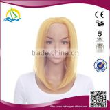 2014 New arrival high density short blonde lace front wig