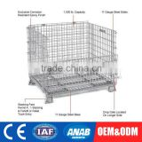 Custom Stackable Wood Pallet Stack Nest Container Warehouse Storage Bin