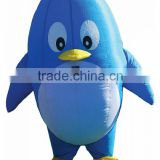 Inflatable Mascot Blue Penguin Costume for Advertising Decoration