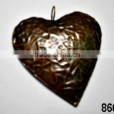 Iron Metal Heart Copper Antique X-Mas Hanging,Ornament & Decoration for Christmas Tree