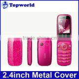 In stock! 2.4 inch T663(FR27) hot flip phone dual sim quad band