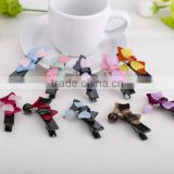 Kids best hair ornament decoration acetate butterfly hair duck clip beaded embellished hair accessories