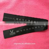 custom brand logo bow tie neck ribbon,adjustable bow tie ribbon with size number(12 1/2-18)