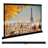 EUG Portable Foldable Projector Screen Widescreen for Desktop Presentation Movies Video Games Business projector screen