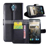 CHEAP COW SKIN TEXTURE Soft Wallet Stand PU Leather Case For Alcatel One Touch Idol 6030 OT6030/Idol X 6040/Idol S OT6034R
