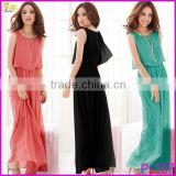 2014 Spring Summer New Casual Dress For Beach Party Fashion Plus Size Long Section of Bohemian Beach Chiffon Dresses