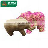 Decopatch 3D Paper Mache Animals Model Standing Small Elephant by Papercraft
