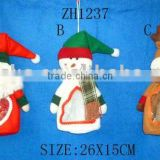 holiday items/ Christmas gift polyester candy container/ Christmas decoration