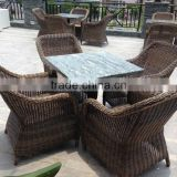 Restaurant furniture rattan wicker outdoor pation chair and table