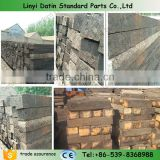 Used wooden railway sleepers