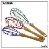 13008 Stainless Steel and Silicone Wired Whisks for BlendingBeating and Baking