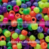 2014 populare kids diy beads mixed color plastic pony beads Colorful big hole letter beads kit for kids bracelet kit