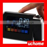 UCHOME Digital Color LCD Display LED Projection Alarm Clock with Weather Station / Temperature / Humidity