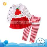 Baby christmas clothes 2017 new arrivals garments american names baby clothing suit in guangzhou china