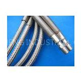 Silver PTFE Teflon Tube , PTFE Teflon Pipe Wrapped Stainless Steel Wire For Protecting Cover