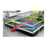 Trampolines With Enclosures Funny Big Safest Trampolines For Kids Toddlers In Amusement Park