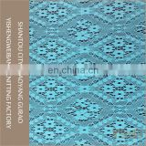 Hot sale cheap spandex stretch blue voile lace fabric