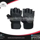 High quality weightlifting leather gloves