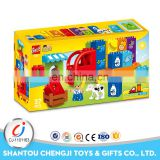 Hot sales baby education toys funny modular plastic blocks for kids