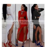 woman bodycon cocktail formal party dress , long sleeve two-piece latest dress designs bandage dress for ladies