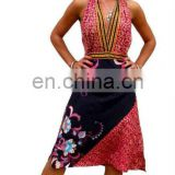 Beautifully design vintage silk printed high quality dress wholesale cheap price good looking very popular in usa