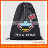 custom recyclable vinyl drawstring bags
